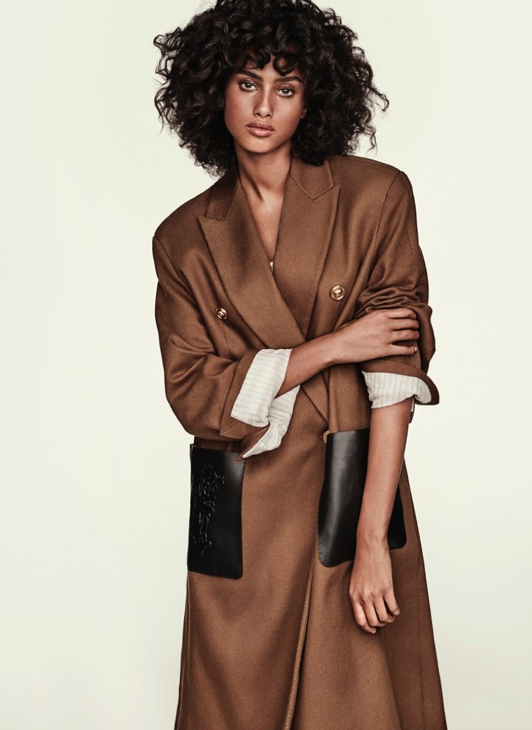 Imaan Hammam Strikes a Pose in Versace for Sunday Times Style
