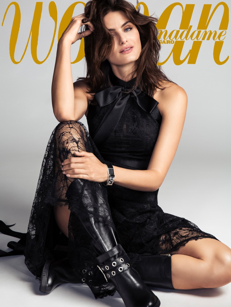 Isabeli Fontana Poses In Chic Looks for Woman Spain