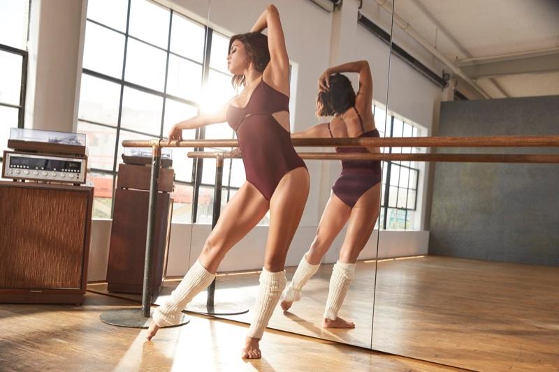 Jenna Dewan shows off her lithe figure in Danskin collaboration