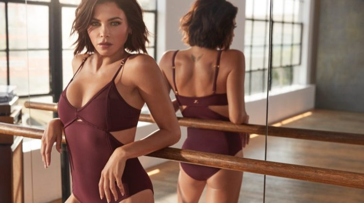 Jenna Dewan models bodysuit from her Danskin collaboration