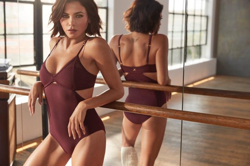 Jenna Dewan models bodysuit from her Danskin collaboration
