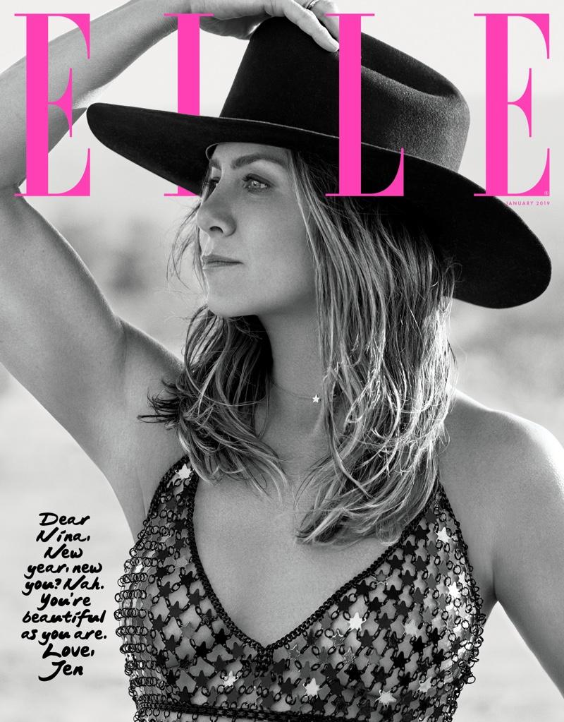 Actress Jennifer Aniston on ELLE US January 2019 Cover