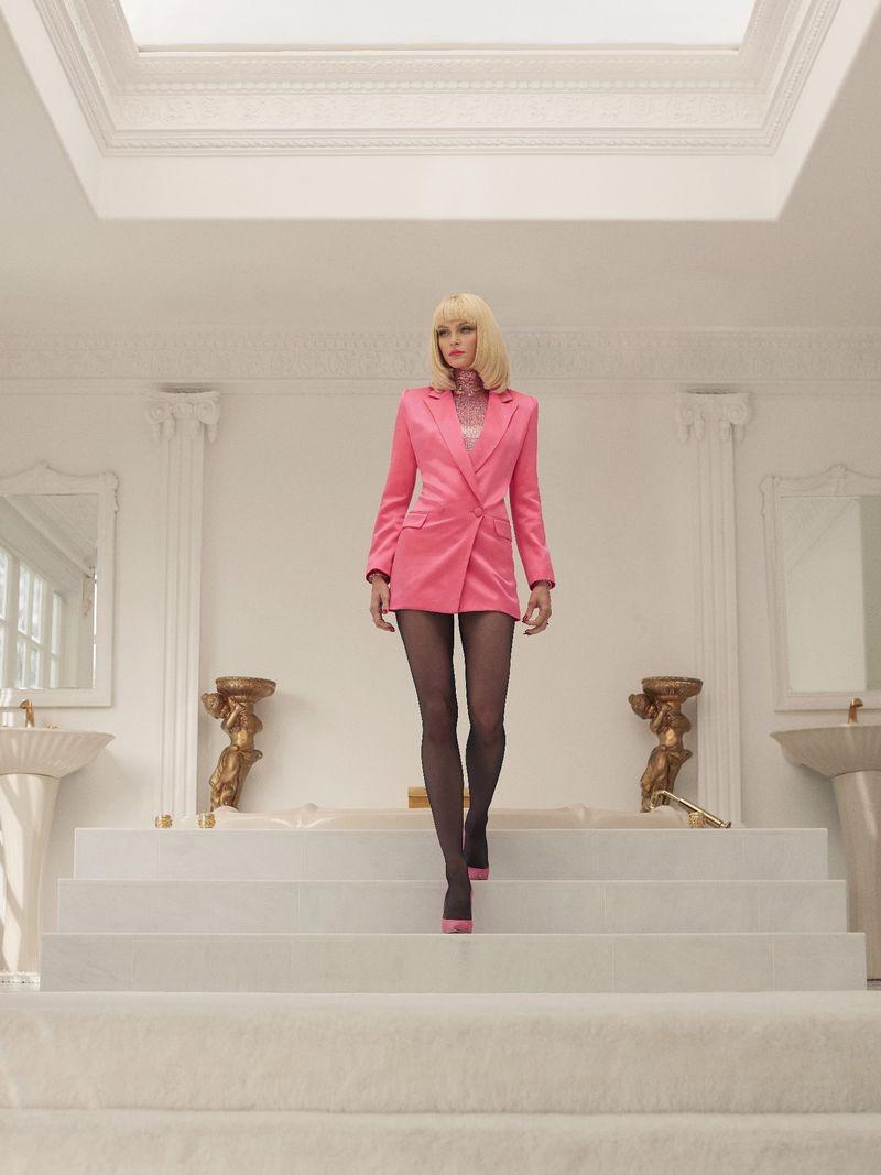 Jessica Stam Models Luxe Fashion in Harper's Bazaar Kazakhstan