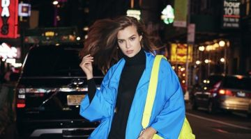 Josephine Skriver Models Neon Looks for ELLE Italy