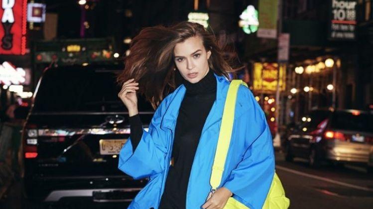 Josephine Skriver Models Neon Looks for ELLE Italy