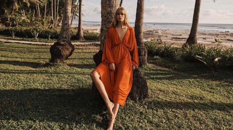 Julia Stegner Poses in Getaway Fashion for PORTER Edit