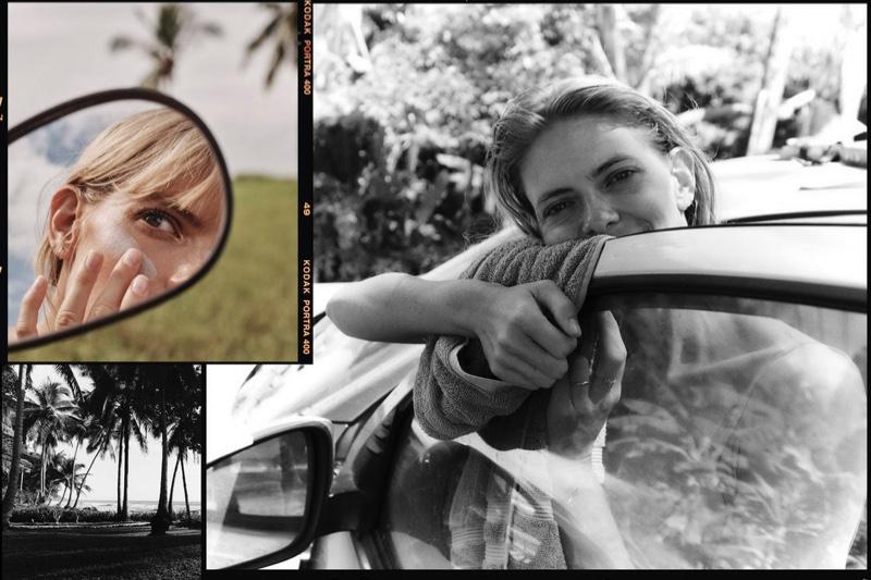 Julia Stegner Poses in Getaway Fashion for PORTER Edit