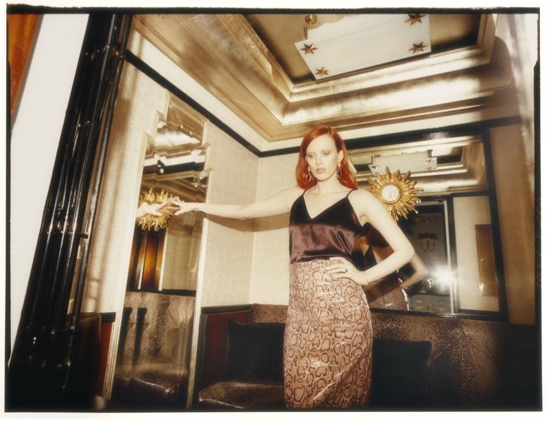 Karen Elson Exudes Pure Elegance for ES Magazine