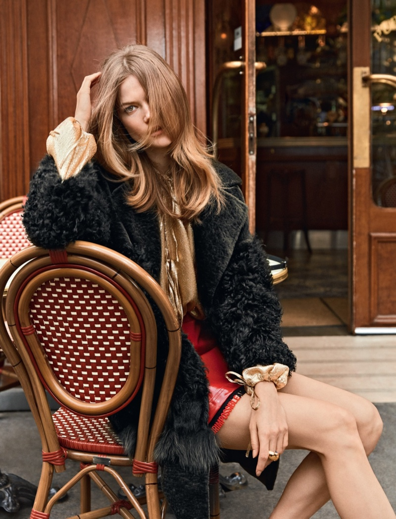 Kasia Struss Embraces 1960's Mod Style for Vanity Fair Italy