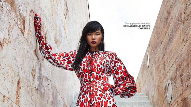 Kayako Higuchi Embraces Bold Prints for ELLE Vietnam
