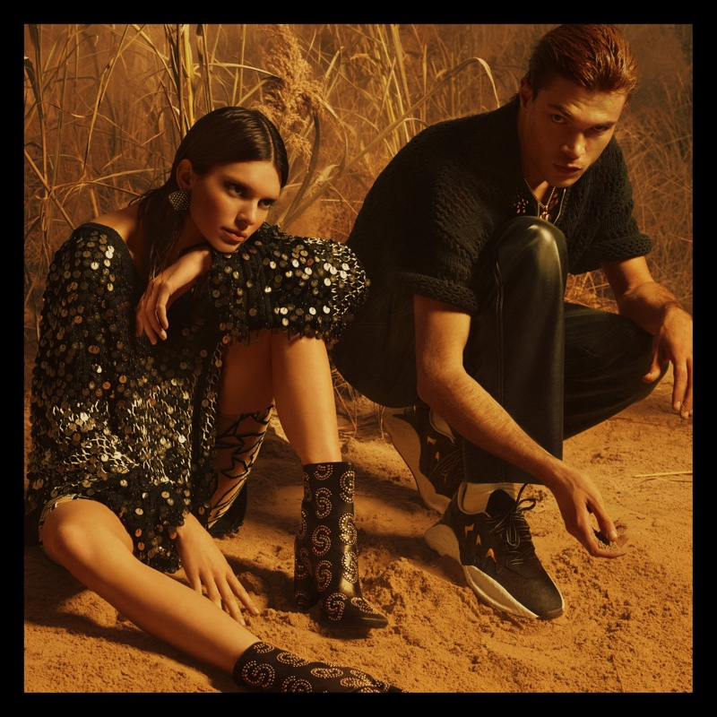 Kendall Jenner and Luka Isaac pose for Roberto Cavalli spring-summer 2019 campaign