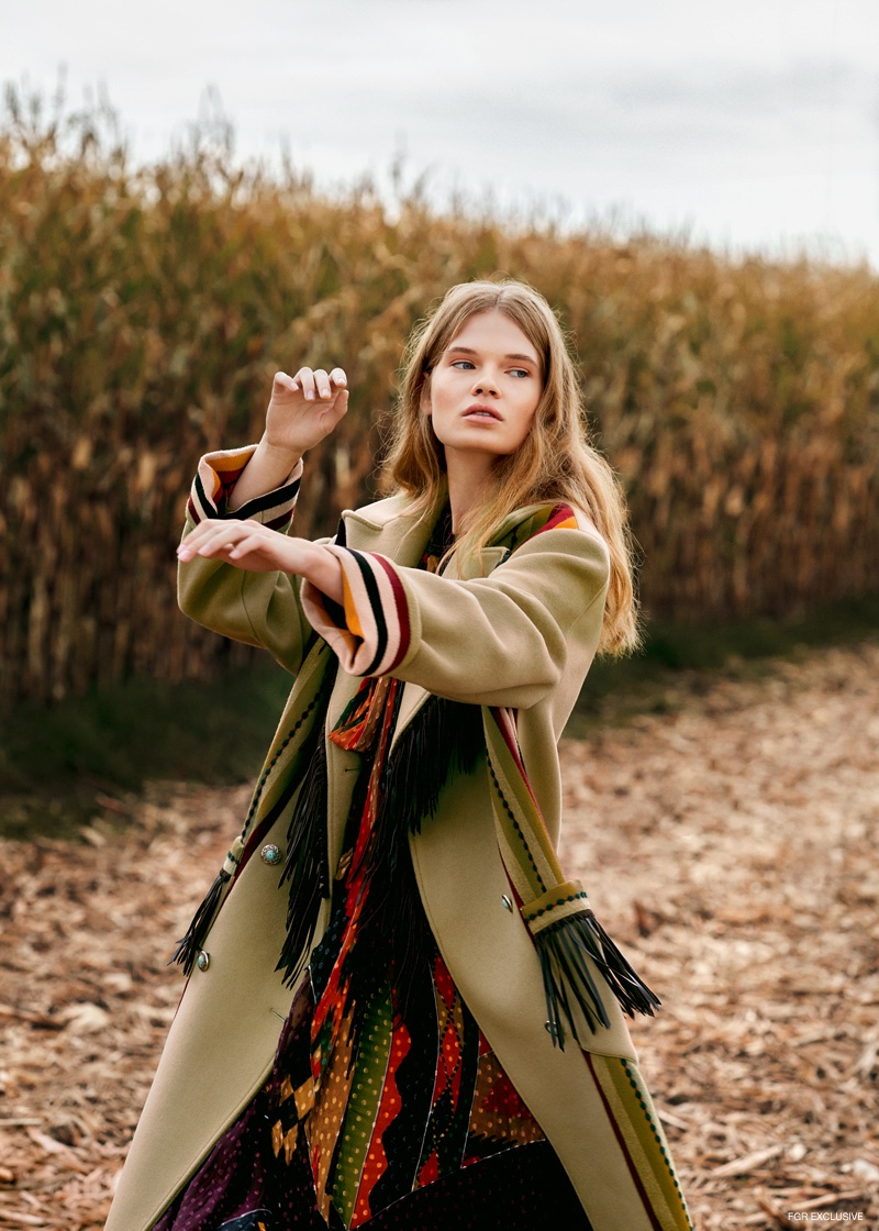Coat and Dress Etro. Photo: Johannes Graf