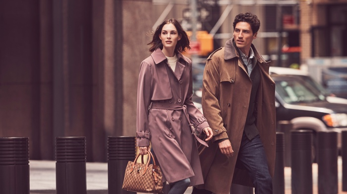 Laura Love and Ryan Kennedy front London Fog fall-winter 2018 campaign
