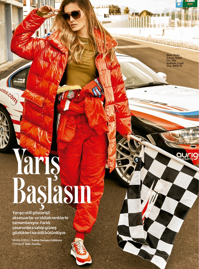 Lourdes Coteron Looks Ready to Race in Cosmopolitan Turkey