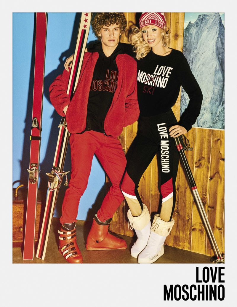 Jessie Bloemendaal and Timo Baumann front LOVE Moschino fall-winter 2018 campaign