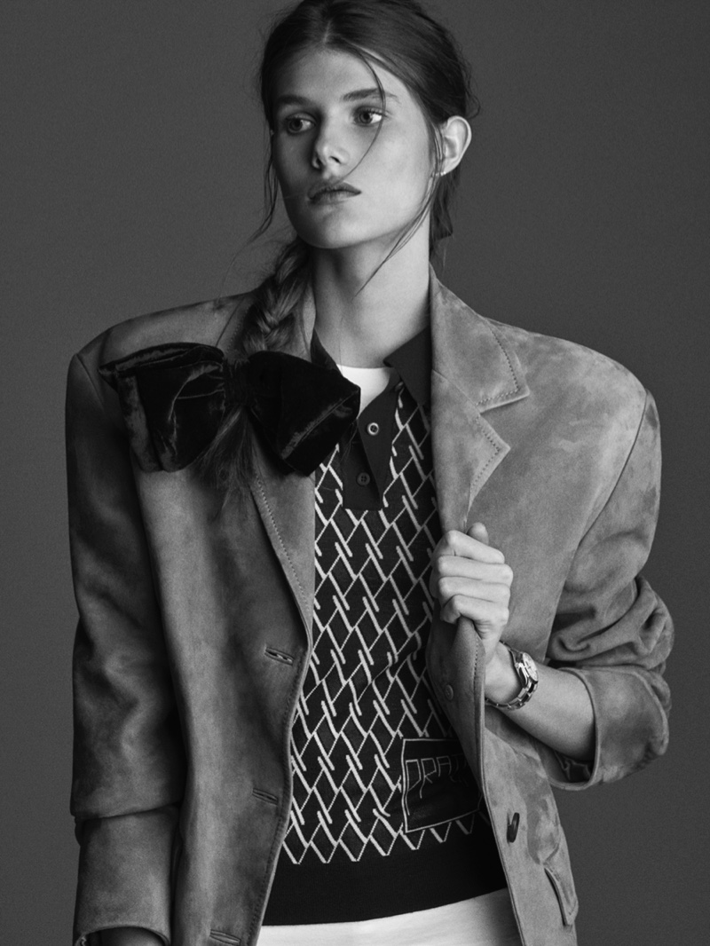 Lucia Lopez Suits Up in Bold Shapes for TELVA Magazine