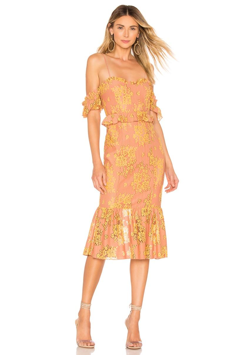 Majorelle Sashie Midi Dress $218