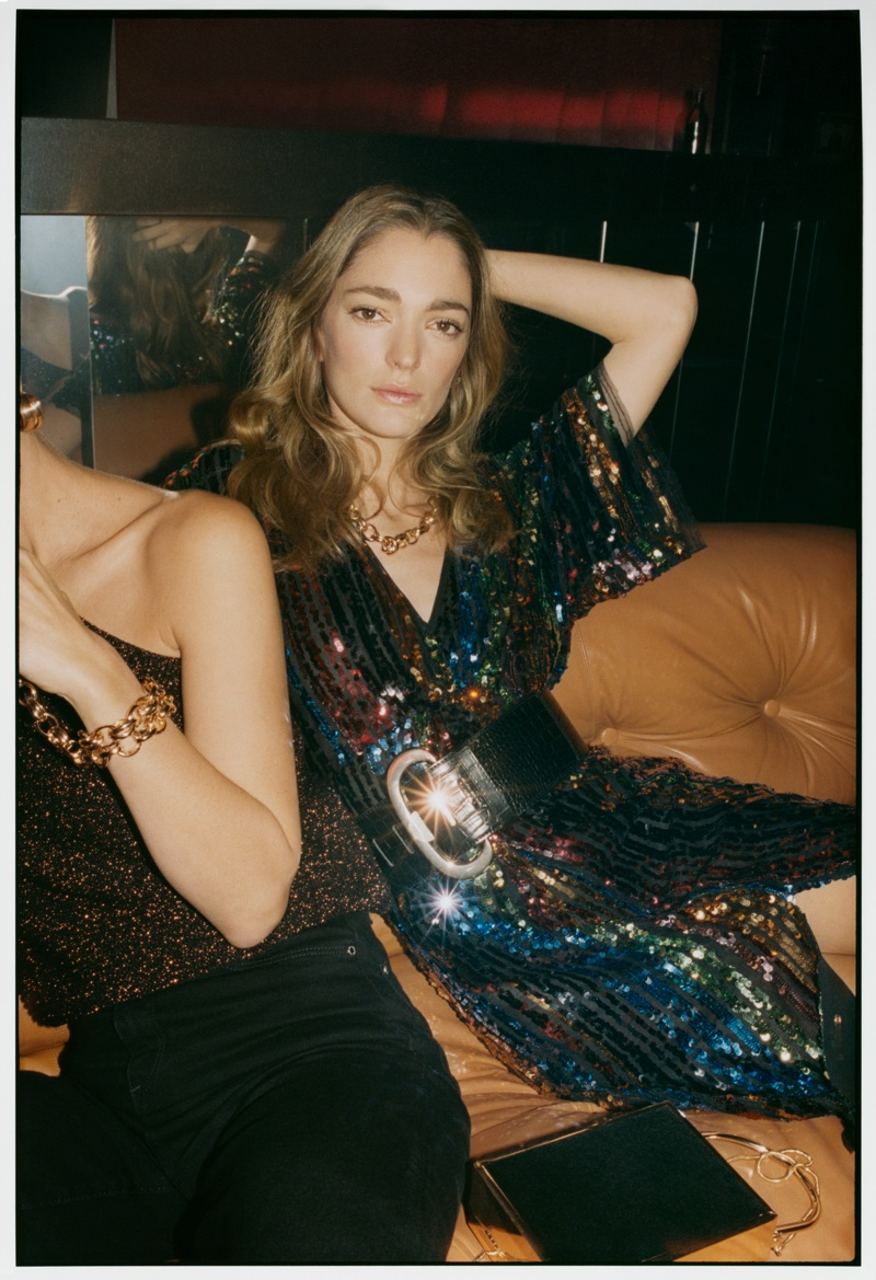 Spanish fashion brand Mango features party styles