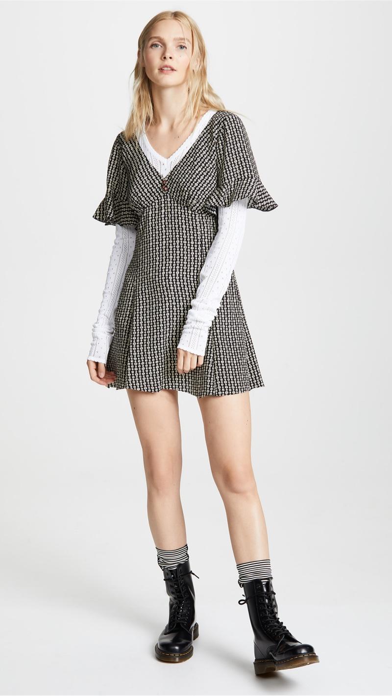 Marc Jacobs Redux Grunge Short Sleeve Mini Dress $450