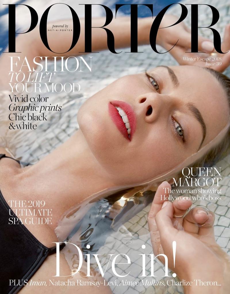 Margot Robbie on PORTER Magazine Winter Escape 2018 Cover