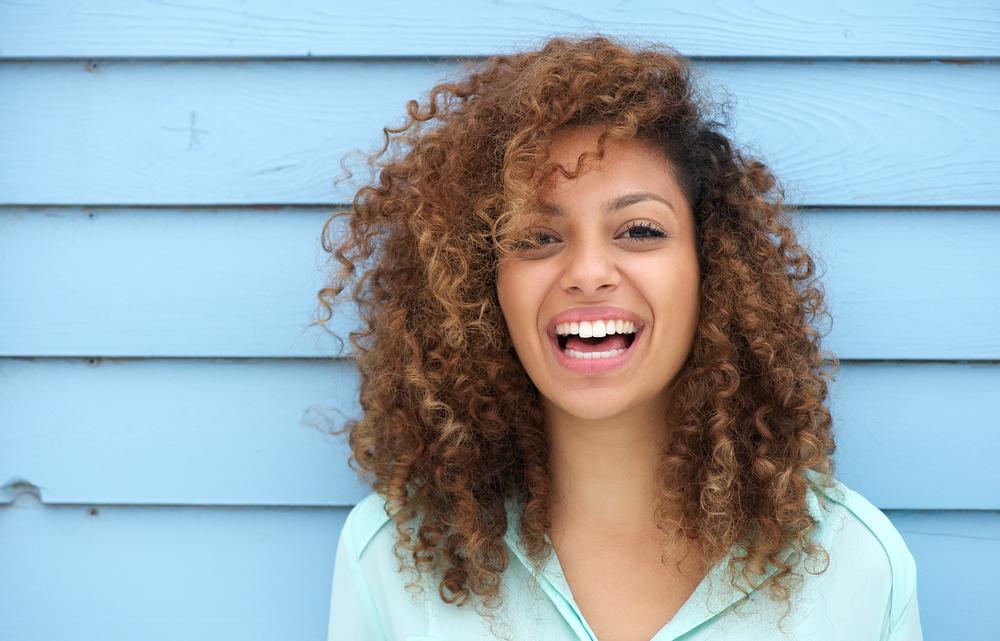 Model Smiling Naturally