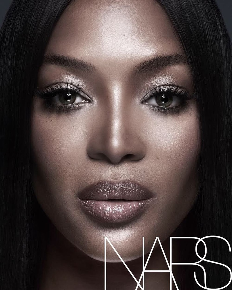 Naomi Campbell poses for NARS Cosmetics campaign