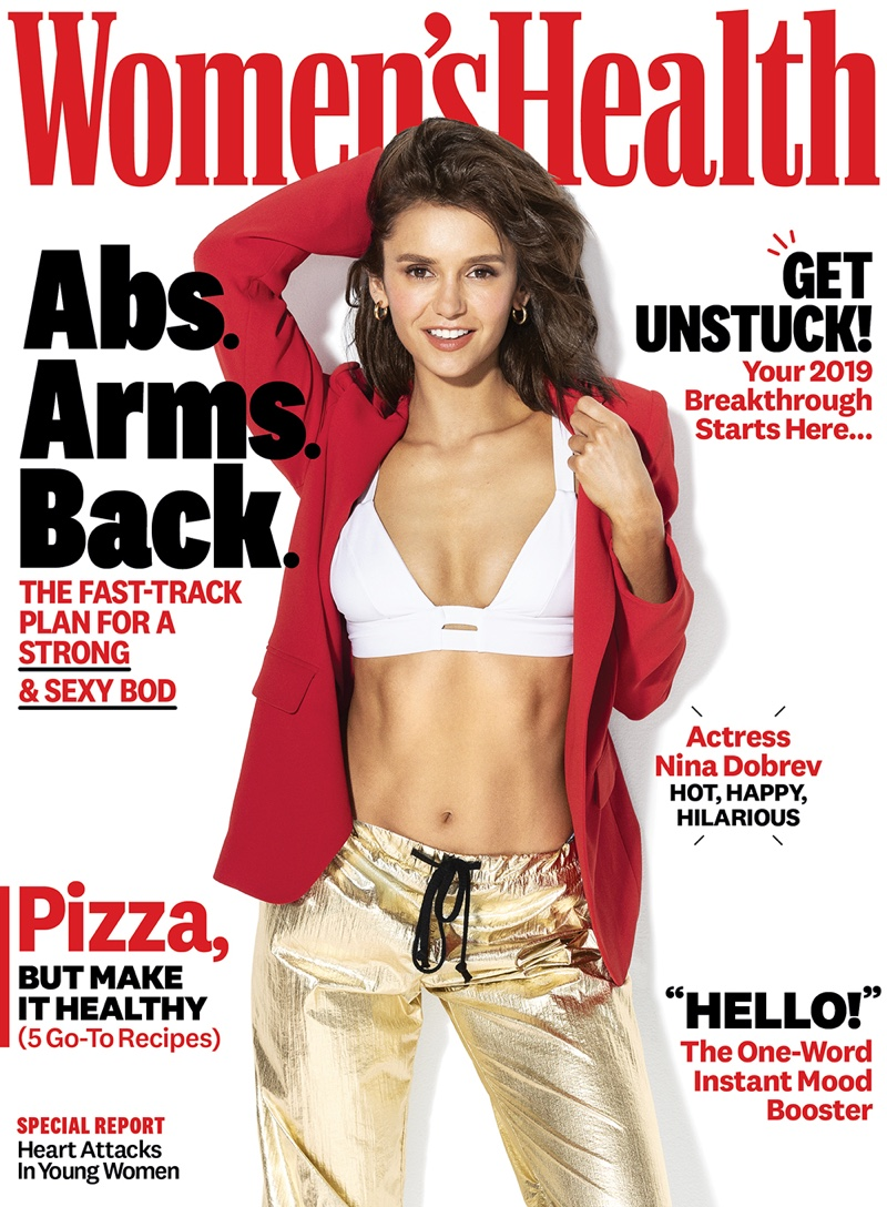 Nina Dobrev on Women's Health January/February 2019 Cover