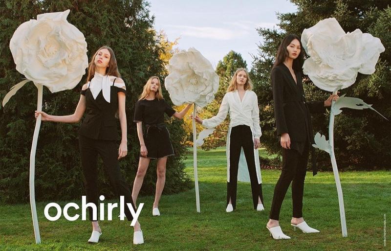 Lorena Maraschi, Polina Oganicheva, Jess PW and He Cong star in Ochirly spring-summer 2019 campaign