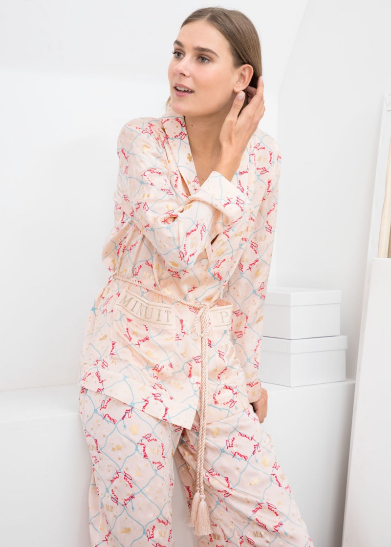 & Other Stories Belted Silk Lounge Shirt $129