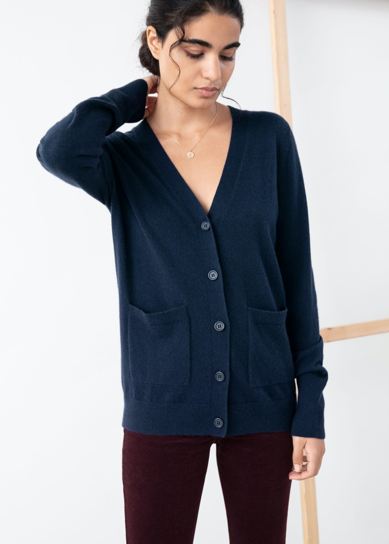 & Other Stories Duo Pocket Cashmere Cardigan $89 (previously $179)