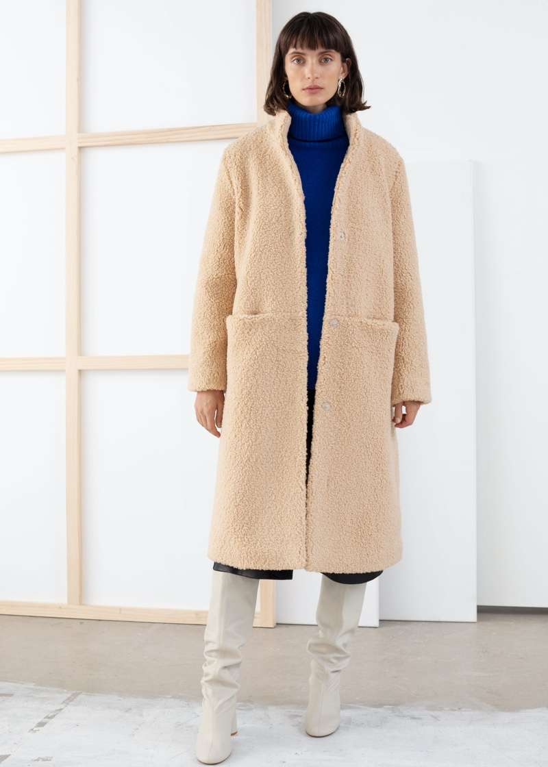 & Other Stories Faux Shearling Teddy Coat $89 (previously $179)