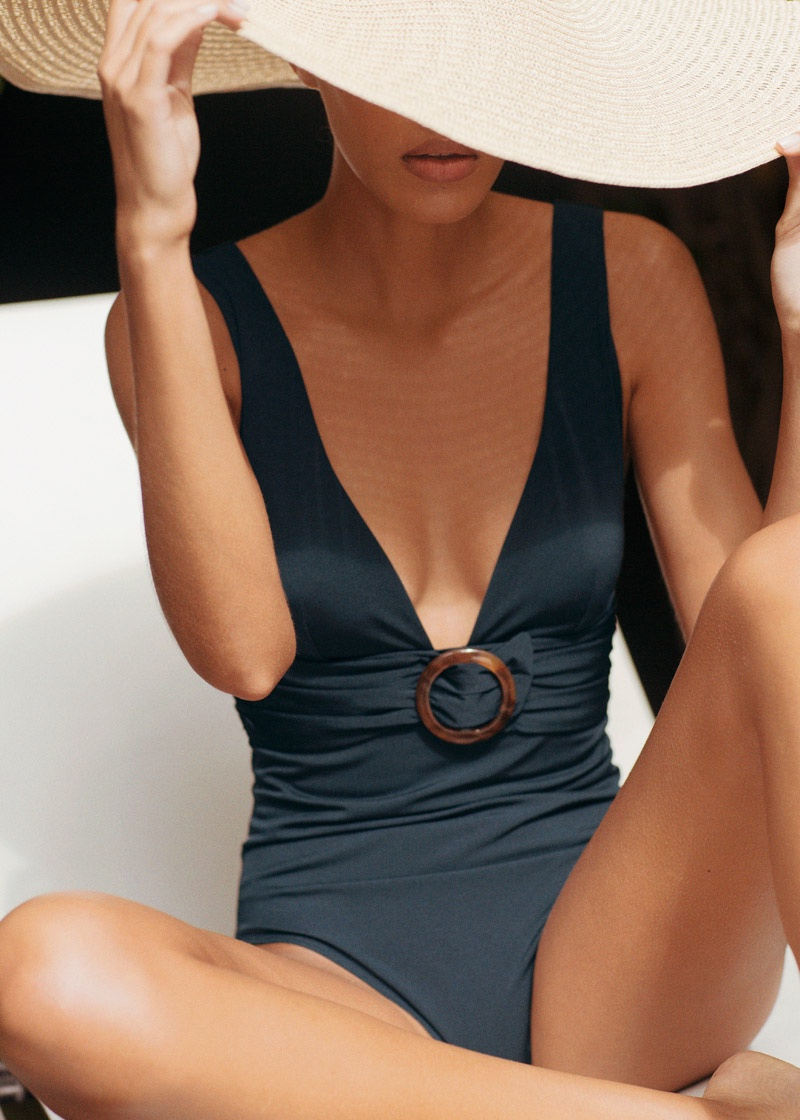 & Other Stories O-Ring Belted Swimsuit $69