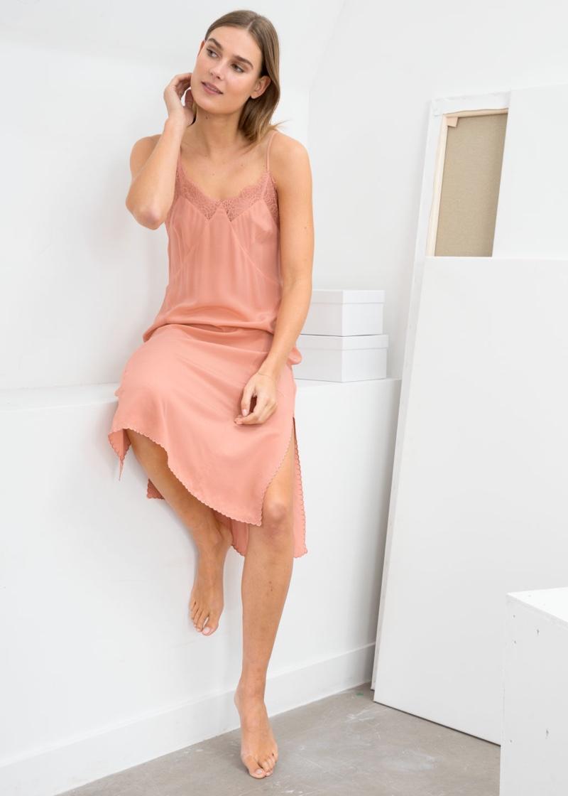& Other Stories Silk Slip Dress $129