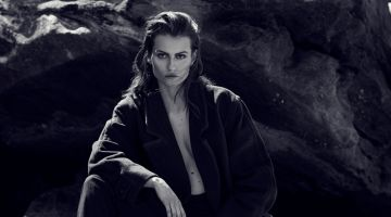Ralph Lauren Black Coat and Wrangler Black Trousers. Photo: Milos Mlynarik