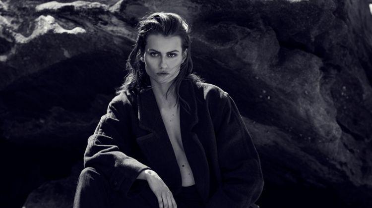 Ralph Lauren Black Coat and Wrangler Black Trousers. Photo: Milos Mlynarik
