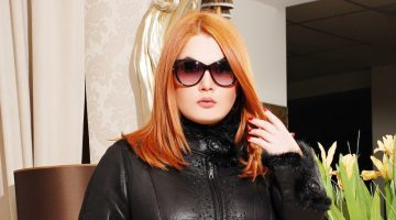 Plus Size Model Leather Jacket Outfit