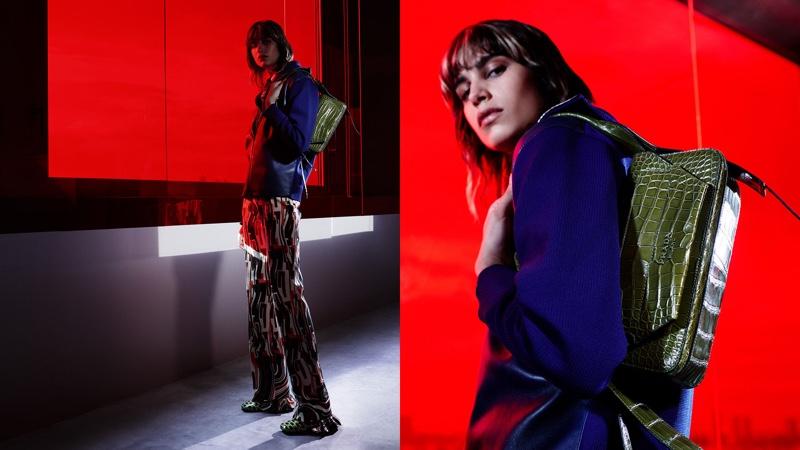 Mica Argañaraz stars in Prada Augmented Sunset resort 2019 campaign