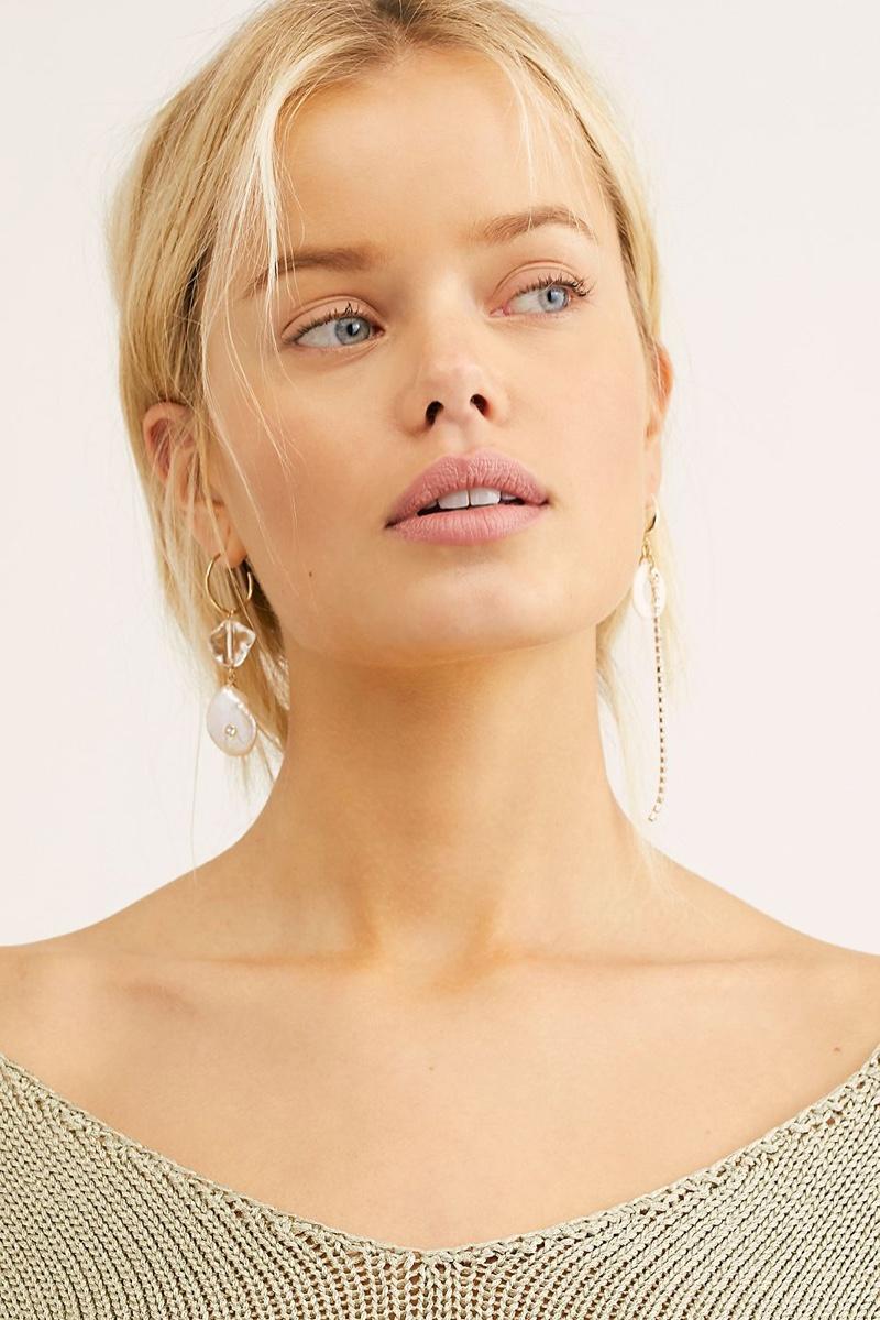 Free People Reflection Asymmetric Earrings