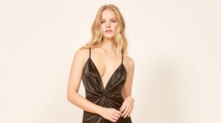 Reformation Robertson Dress in Black $195 (previously $278)