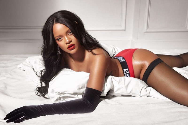 Singer Rihanna models Naughty or Nice briefs from Savage x Fenty campaign