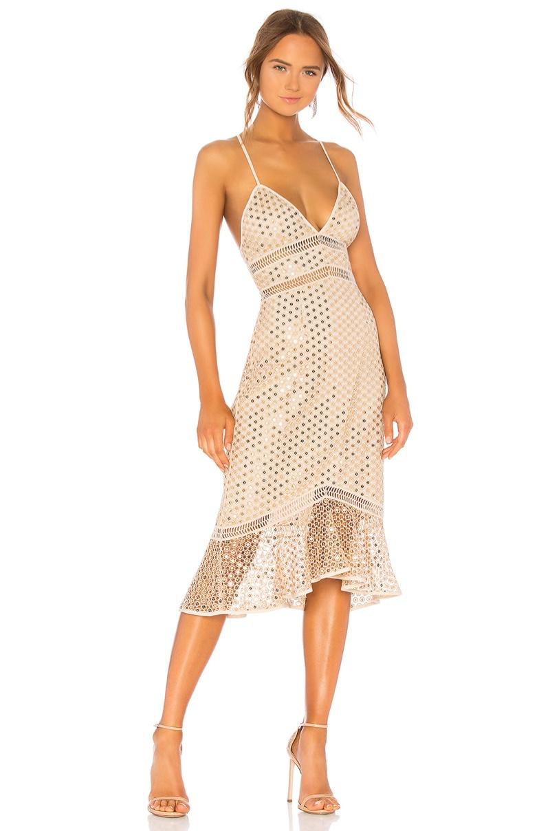 Saylor Nico Dress in Champagne $264