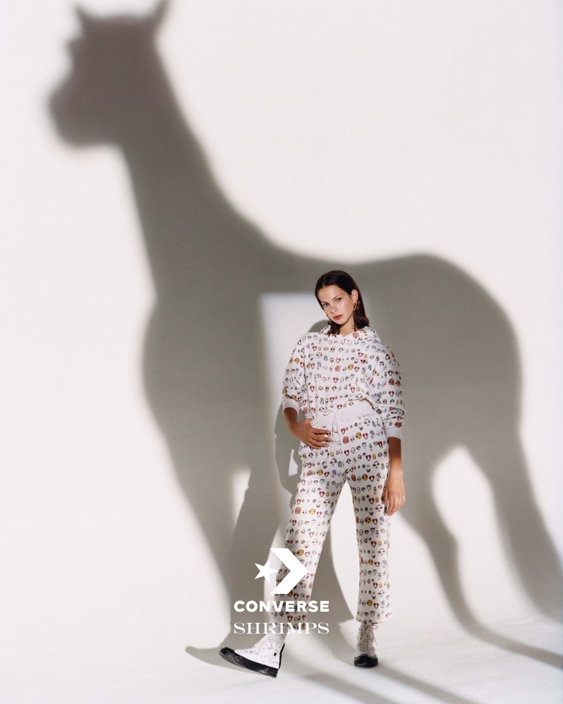 Shrimps x Converse showcases equestrian details for its campaign