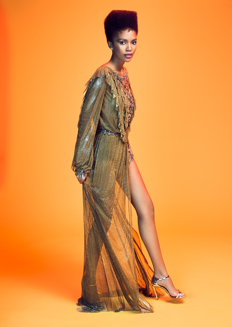 Tatiana Bello Wears Party-Ready Styles for Woman Spain
