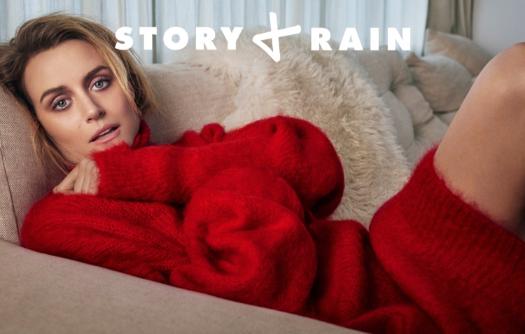 Taylor Schilling poses for Story + Rain photoshoot