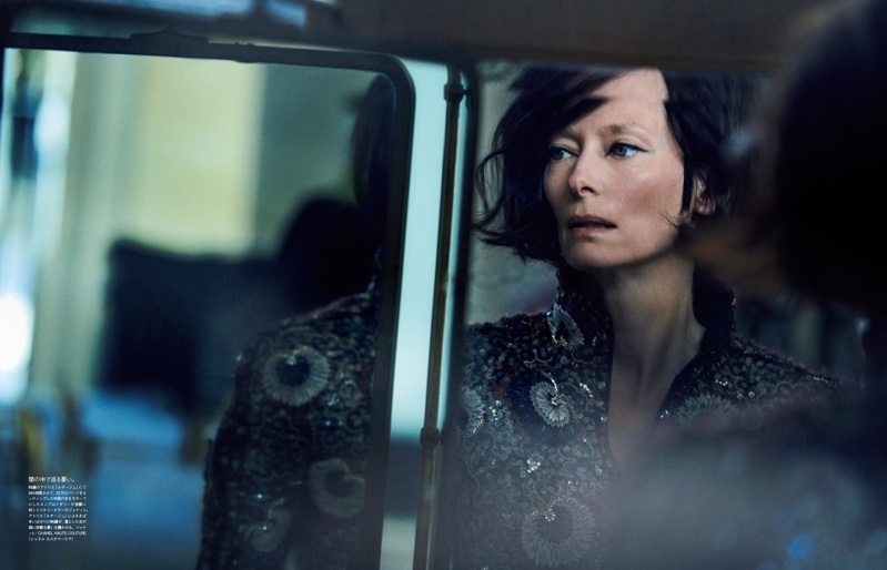 Tilda Swinton Captivates in Chanel Couture for Vogue Japan
