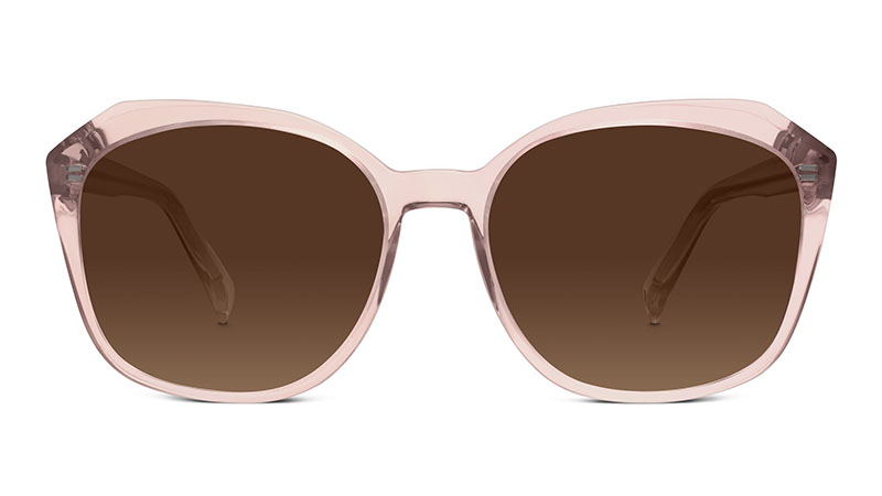 Warby Parker Nancy Sunglasses in Rose Crystal with Brown Gradient Lenses $95