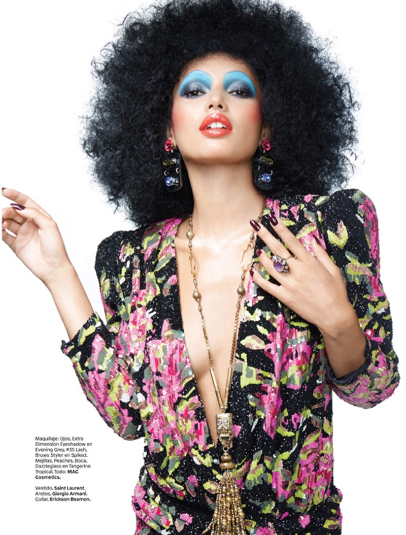 Wendy Hope Captures 70's Beauty Trends for Glamour Mexico