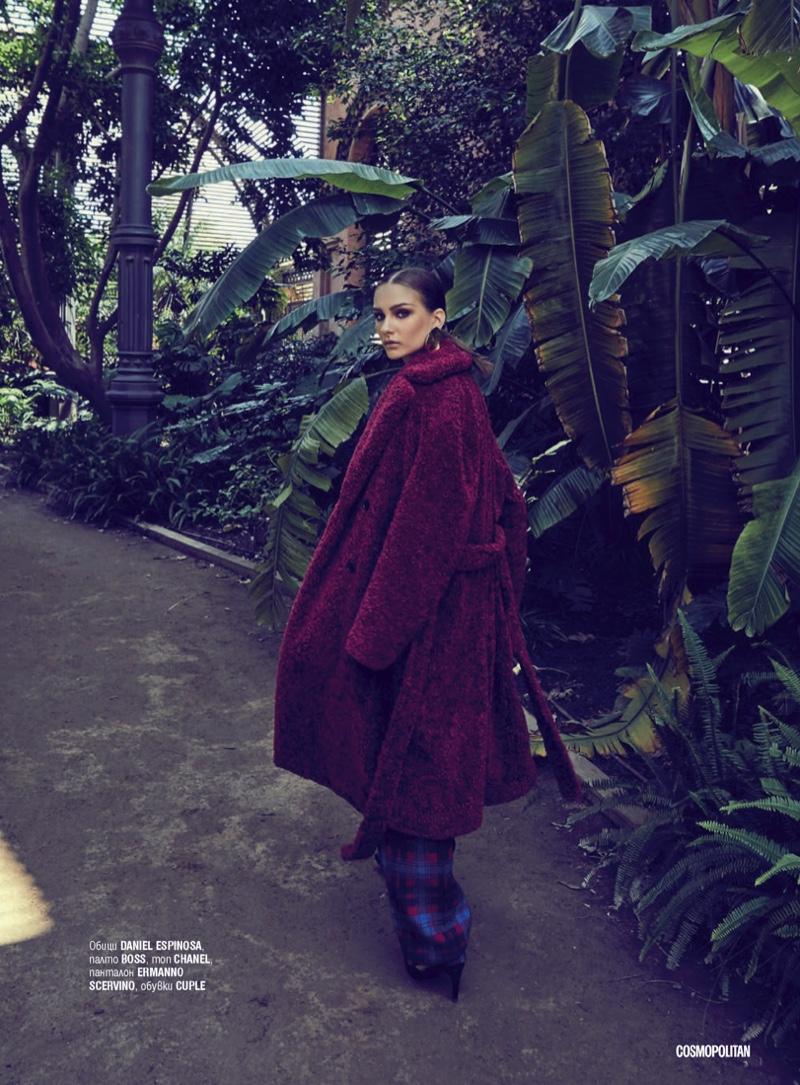 Weronika Banka Poses in Chic Looks for Cosmopolitan Bulgaria
