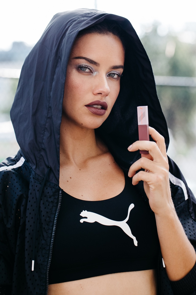 Adriana Lima Gets Sporty Chic in PUMA x Maybelline Campaign