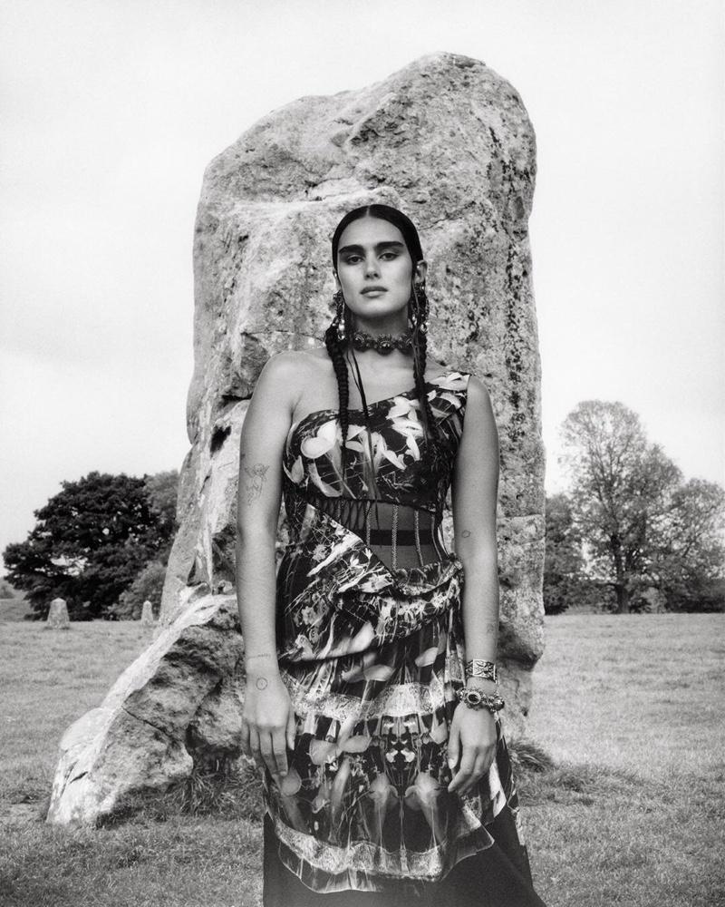 Jill Kortleve appears in Alexander McQueen spring-summer 2019 campaign
